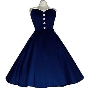 Maggie Rockabilly Kleid 50er 60er Jahre Abendkleid Petticoat Baumwolle Grösse 36-40