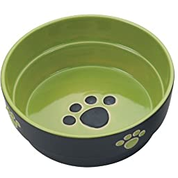 Ethical Pet Products (Spot) DSO6900 Fresco Stoneware Dog Dish, 7-Inch, Green