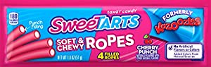 SweeTarts Soft & Chewy Ropes Formerly Kazoozles, 1.8 Ounce Packages (Pack of 24)