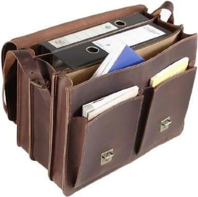 Edle Aktentasche Lehrertasche Umhängetasche Keine Lederpflege notwendig! Durchgefettetes Rindleder! Made in Germany! Lesen Sie bitte im Angebot!