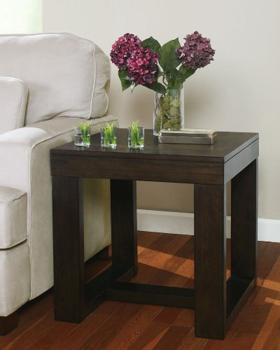 Cheap Dark Brown Square End Table (T481-2)