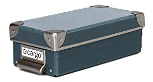 Cargo Naturals Pencil Box, Bluestone, 3 by 9-1/2 by 4-1/2-Inch