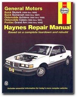 Haynes Buick Skylark and Somerset Oldsmobile Achieva and Calais and Pontiac Grand Am (85 - 98) Manual (Pontiac Charm compare prices)