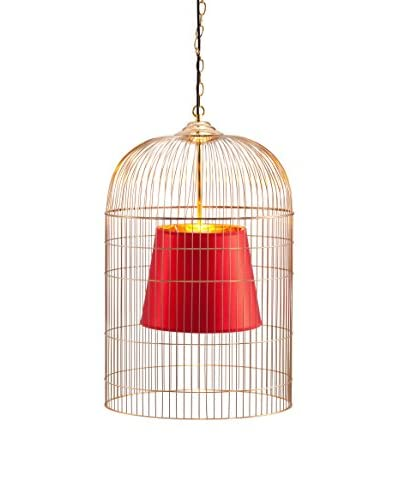 Zuo Large Sprite Ceiling Lamp, Gold & Red