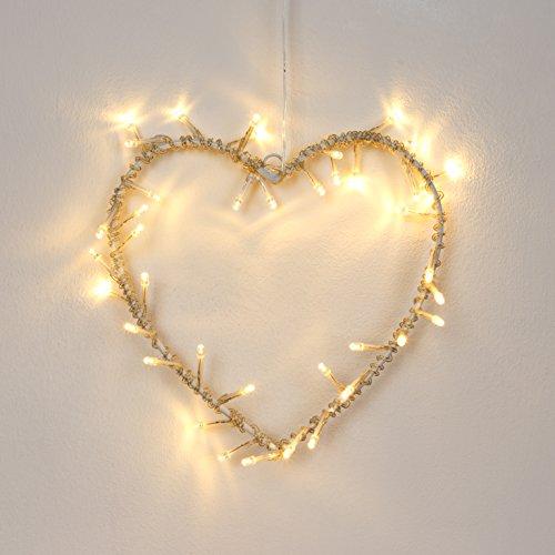 40er-Moderne-warmweie-und-batteriebetriebene-LED-Lichterkette-in-Gestalt-von-einem-Herz-in-silberfarbigem-Metall