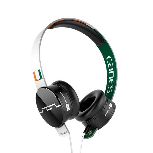 Sol Republic 1211-Uma Collegiate Series Tracks On-Ear Headphones With Three Button Remote And Microphone - University Of Miami