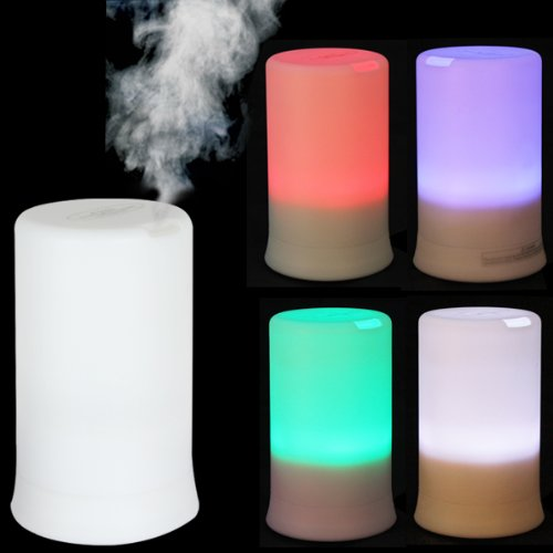 Review OriGlam® 100ML 4 LED Colors & 4 Timing Modes Ultrasonic Wave Vibration Diffuser and Humidifier, Can Add Essential Oil (Without picture)