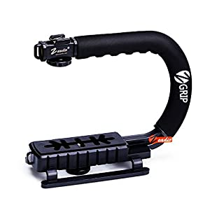 Zeadio Video Action Stabilizing Handle Grip Handheld Stabilizer for Canon Nikon Sony Panasonic Pentax Olympus DSLR Camera Camcorder