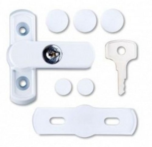 Sash Jammer-Set - Sicherheitsschlösser für Fenster & Türen aus uPVC - Weiß - 2