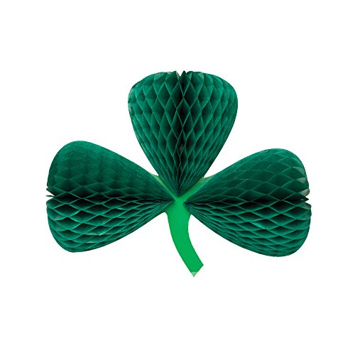 "Creative Converting Shamrock Honeycomb Tissue Paper Decor, 12"", Green"