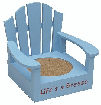 Adirondack Life's a Breeze Light Blue Color Coaster Chair