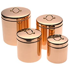 Old Dutch Decor Copper Canisters Set