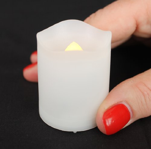 Frostfire Mooncandles - 6 Indoor and Outdoor Votive Colour Changing Candles with Remote Control & Timer