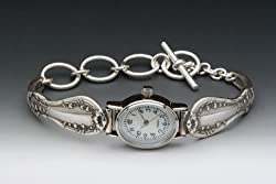 Silver Spoon Ladies Mother of Pearl Oval Silver Watch Lila