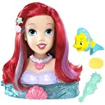 Disney Princess Ariel Styling Head, fun in or out of the bath tub with brush, sponge, and Flounder toy!