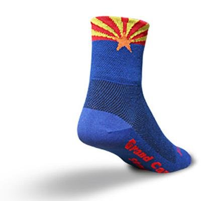 Buy Low Price SockGuy Classic 3in Arizona Flag Cycling/Running Socks (B002R4J39Q)