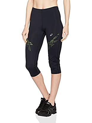 Asics Pantalón Running Stripe (Negro / Amarillo)
