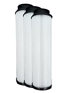 (3) 40140201 Hoover WindTunnel, EmPower & Savvy Bagles Upright Pleated HEPA Vacuum filter, Twin Chamber System, Bagged & Bagless, Upright, Anniversary, Reconditioned, Self Propelled Vacuum Cleaners, 40130050, 43615-090