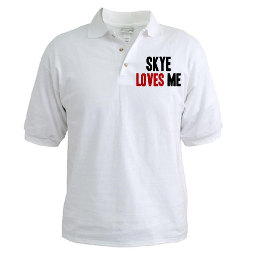 41HJUZYb xL   Skye loves me Golf shirt Golf Shirt by CafePress   L White On Sale