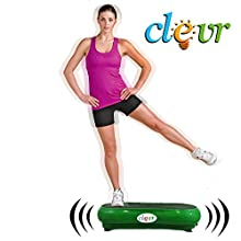 Green Mini Crazy Fit Full Body Vibration Thin Platform Massage Machine Fitness
