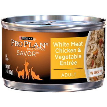Pro Plan White Meat Chicken & Vegetable Entree Adult Canned Cat Food In Gravy