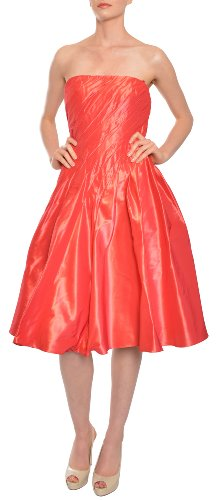 Carmen Marc Valvo Iridescent Fit Flare Taffeta Evening Dress