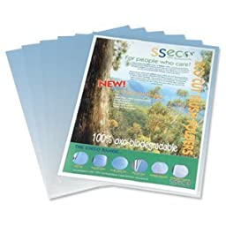 Sseco Recyclable And Biodegradable Cut Flush Folder. 100 Micron. Pack 100.