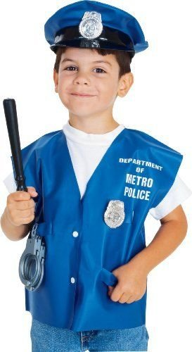 [Childs Policeman Halloween Costume Accessory Kit] (Indian Policeman Costume)