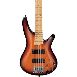Ibanez SR375MBBT 5-String Electric Bass Guitar Brown Burst