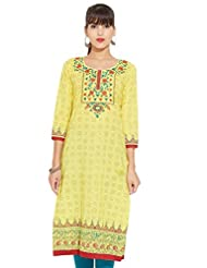 LOVELY LADY Ladies Cotton Solid KURTI - B00ZCB3LKS