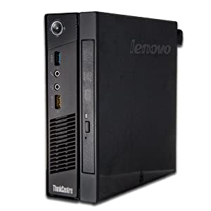 Lenovo ThinkCentre M93p 10AB0011US Desktop (2.0 GHz Intel Core i7-4765T Processor, 8GB DDR3, 128GB SSD, Windows 7 Professional) Black from Lenovo