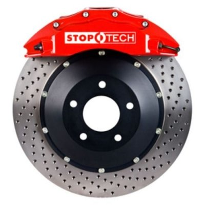StopTech 83.119.6700.72 Performance Big Brake Kit w/Red Caliper/Drilled Disc- Front