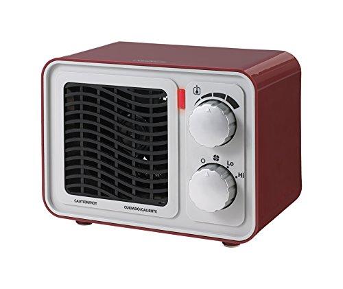 Sunbeam SFH5264MR-UM Retro Radio Heater Fan, Small, Red (Sunbeam Fan Forced Heater compare prices)