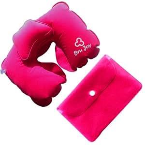Amazon Com Bru Joy Travel Pillow Neck Inflatable Rosy Red
