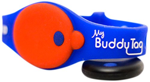 My Buddy Tag with Silicone Wristband, Blue - 1