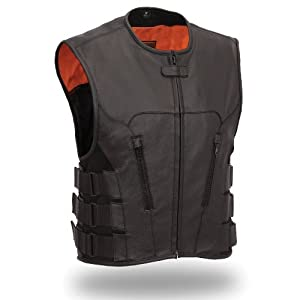 First Manufacturing Mens Updated SWAT Team Style Vest (Black, X-Large) by First Manufacturing