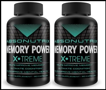 2 Bottles: Absonutrix Memory Power-Increase Memory Retention, Cognitive Skills Reduce Mood Swings