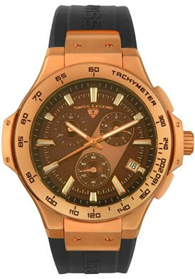 Swiss Legend Men's 40051-RG-04 Maverick Chronograph Rose Gold-Tone Watch