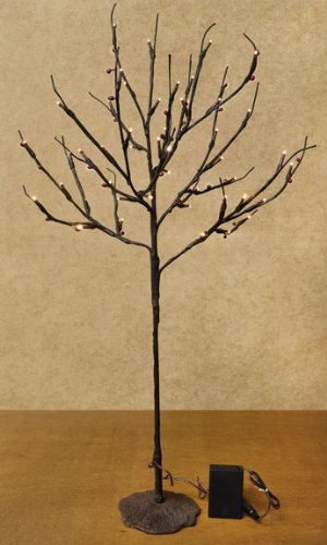 28 Inch Lighted Twig Ornament Tree