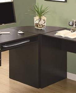 Monarch Specialties Hollow-Core Corner Wedge Desk, Cappuccino