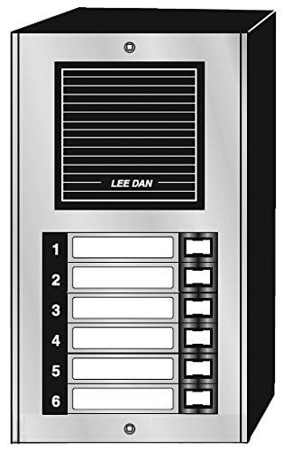 Door Panel 6 Button Auminum Surface Mount-2Pack