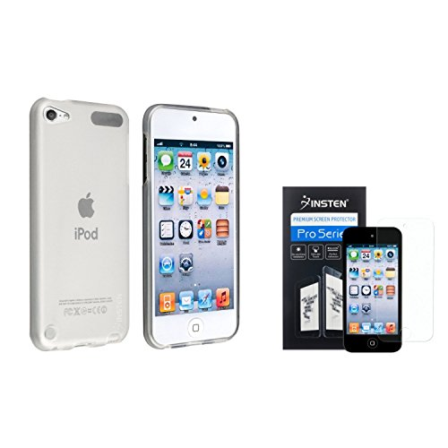 Insten Frost Clear White TPU Rubber Case with FREE Anti-Glare LCD Cover compatible with Apple iPod nano 7th Generation