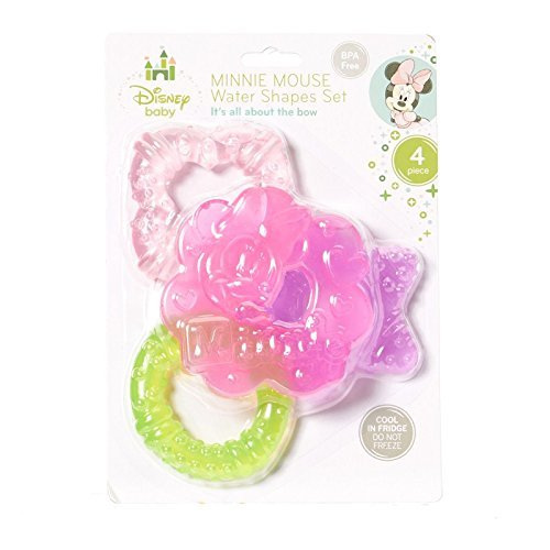 Disney Minnie Mouse 4 Piece Water Shapes Teether Set - 1