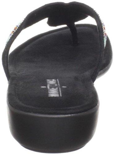 Minnetonka Women's Bisbee Thong Sandal,Black,9 M US