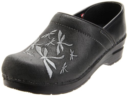 Sanita Women's Professional Dragonfly Clog,Black,35 EU/4.5-5 M US