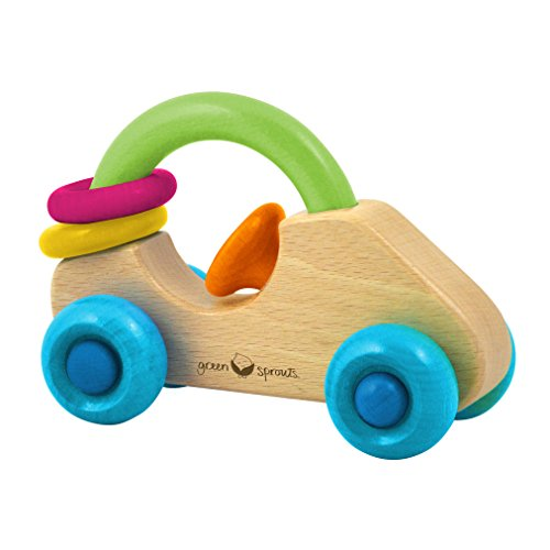 green sprouts Car Rattle Made From Wood