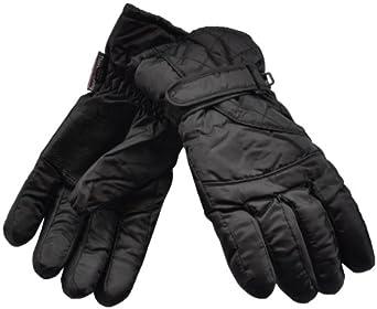 Damen Gepolsterte Thermo Isolierter Ski-Handschuhe (schwarz)