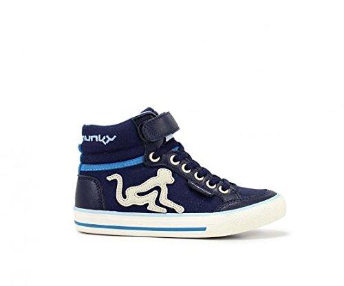 DRUNKNMUNKY BOS-VI-091 15SS scarpa bambino velcro blu (32)
