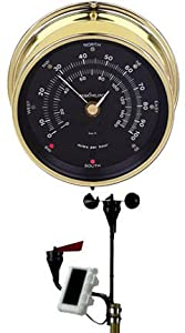 Wireless Anemometer in Brass & Silver