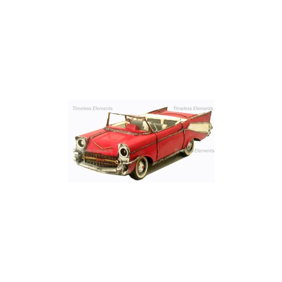 1957 Chevy Bel Air Convertible Car model display vintage style